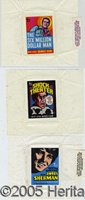 Miscellaneous:Trading Cards, (3) DIFFERENT SCARCE TOPPS TEST ISSUES. Center sections of each...