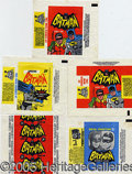 "Miscellaneous:Trading Cards, (5) DIFFERENT ""BATMAN"" WRAPPERS. Very popular 1960's issues. ..."