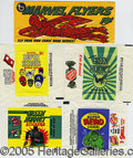 Miscellaneous:Trading Cards, (5) DIFFERENT SUPERHERO WRAPPERS. Always a popular collecting s...