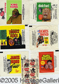 Miscellaneous:Trading Cards, (7) MOVIE-RELATED WRAPPERS. Nice collection on this popular sub...