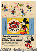 Miscellaneous:Trading Cards, MICKEY MOUSE BUBBLE GUM WRAPPER. One of the most successful non...