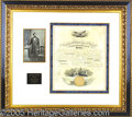 Autographs:U.S. Presidents, SUPERB LINCOLN SIGNED NAVAL COMMISSION. January 24, 1862 commis...