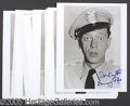 "Autographs:Celebrities, A HOARD OF 29 DON KNOTTS ""BARNEY FIFE"" SIGNED PHOTOS. Glossy 8 ..."