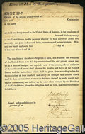 Autographs:Statesmen, HISTORIC WAR OF 1812 DOCUMENT, WITNESSED BY REVOLUTIONARY WAR GE...