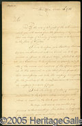 Autographs:Statesmen, HISTORIC 1786 HENRY KNOX SIGNED LETTER TO PATRICK HENRY. Knox w...