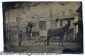 """Photography:Tintypes, NEAT TINTYPE OF A TRADESMAN'S WAGON. """"Cold Spring Creamery"""" wag..."""