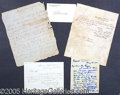 Autographs:Statesmen, COLLECTION OF HISTORICAL AUTOGRAPH ITEMS AND DOCUMENTS. 1) 1847...