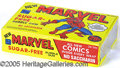 Miscellaneous:Trading Cards, MARVEL GUM UNOPENED BOX 1978. In the scarcer horizontal format ...