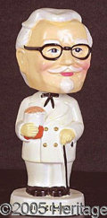 Advertising:Small Novelties, COL. SANDERS KFC BOBBIN HEAD. Great condition! Nice representati...
