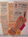 Entertainment Collectibles:Vaudeville, MINSTREL PLAYBILLS, PROGRAMS, AND TICKETS..
