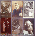 Entertainment Collectibles:Theatre, COLLECTION OF POSTCARDS AND PORTRAITS..