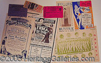 ASSORTMENT OF BURLESQUE EPHEMERA.. P FONT color=ff0000 STRONG Please note: /STRONG Autographs from the Leonard Finger co...