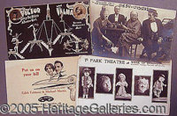 VAUDEVILLE PROMOTIONAL CARDS AND POSTCARDS.. P FONT color=ff0000 STRONG Please note: /STRONG Autographs from the Leonard...