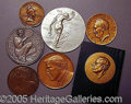 Entertainment Collectibles:Theatre, SEVEN PIECES OF MEDALLIC ART.. Ple...