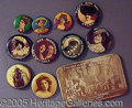 Advertising:Pocket Mirrors & Pinbacks, TEN BUTTONS AND A MIRROR.. Please ...