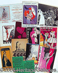 Entertainment Collectibles:Theatre, FRENCH AND OTHER EUROPEAN PROGRAMS AND EPHEMERA..