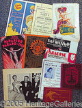 Entertainment Collectibles:Theatre, FAMOUS NEW YORK ATTRACTIONS.. Plea...