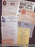 Entertainment Collectibles:Theatre, GRAPHIC LETTERHEADS AND EPHEMERA..