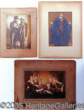 Entertainment Collectibles:Theatre, [JUDAICA] SELECTION OF MOUNTED PHOTOS OF JEWISH ACTORS..