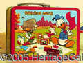 Miscellaneous:Lunchboxes, MICKEY MOUSE AND DONALD DUCK BOX 1954. This hard to find 1954 Mi...