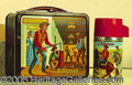 "Miscellaneous:Lunchboxes, ""MINTY"" THE RIFLEMAN BY ALADDIN LUNCHBOX. This graphic take off ..."