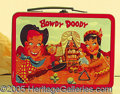 Miscellaneous:Lunchboxes, HOWDY DOODY WESTERN THEME LUNCHBOX. This box is in excellent con...