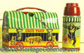 Miscellaneous:Lunchboxes, 1958 CIRCUS WAGON DOME LUNCHBOX. Made to look like a circus wago...