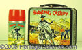 Miscellaneous:Lunchboxes, CLASSIC HOPALONG CASSIDY WITH BLACK LEATHER LOOK RIM. Great clas...