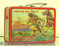 Miscellaneous:Lunchboxes, DAVY CROCKETT/KIT CARSON LUNCHBOX. This is the box that caused o...