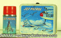 Miscellaneous:Lunchboxes, JET PATROL BOX AND THERMOS. Although this box is missing the han...