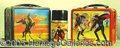 Miscellaneous:Lunchboxes, ZORRO RED VERSION AND SKY VERSION BOXES. Two great lunch boxes p...