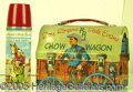 Miscellaneous:Lunchboxes, ROY ROGERS DOME TOP CHUCK WAGON. This great looking piece of nos...
