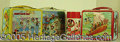 Miscellaneous:Lunchboxes, THREE MICKEY MOUSE CLUB LUNCH BOXES. These boxes picture Annette...