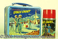 Miscellaneous:Lunchboxes, TOM CORBETT SPACE CADET WITH LEGEND LUNCH BOX. This clever box b...