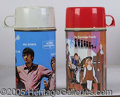 Miscellaneous:Lunchboxes, THE MONKEE'S THERMOS 1967/ THE PARTRIDGE FAMILY THERMOS 1971. Bo...