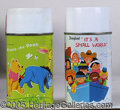 Miscellaneous:Lunchboxes, WINNIE THE POOH / SMALL WORLD 1964 THERMOS. Both of these are vi...