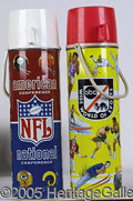 Miscellaneous:Lunchboxes, LARGE SIZE NFL AMERICAN CONFERENCE /WIDE WORLD OF SPORTS ABC LAR...