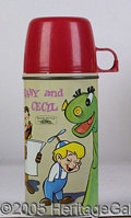 Miscellaneous:Lunchboxes, SUPER RARE BEANY AND CECIL STEEL/GLASS THERMOS. From 1963, this ...