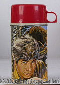 Miscellaneous:Lunchboxes, DANIEL BOONE TV SERIES WITH FESS PARKER THERMOS. Very neat, very...