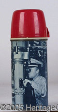 Miscellaneous:Lunchboxes, SUBMARINE STEEL/ GLASS THERMOS. Excellent condition. This hard t...