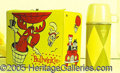 Miscellaneous:Lunchboxes, ROCKY AND BULWINKLE VINYL BOX AND THERMOS. This vintage 1962 box...