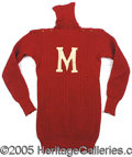 "Miscellaneous, SCARCE TURN-OF–THE-CENTURY FOOTBALL SWEATER. A great period ""lo..."