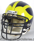 Miscellaneous, OFFICIAL UNIVERSITY OF MICHIGAN FOOTBALL HELMET. This massive R...
