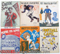 Miscellaneous, SIX PIECES OF VINTAGE COLLEGE FOOTBALL SHEET MUSIC. As shown, 9...