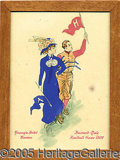 Miscellaneous, LOVELY 1909 HARVARDYALE ITEM. Probably a restaurant menu cover,...