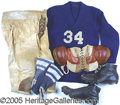 """Miscellaneous, EARLY FOOTBALL COMPLETE UNIFORM. Great """"period flavor"""" for disp..."""
