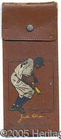 Miscellaneous, VERY SCARCE C. 1950 JACKIE ROBINSON LEATHERETTE PENCIL CASE. A ...