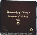 Miscellaneous, EXTREMELY RARE UNIVERSITY OF CHICAGO FOOTBALL LETTER BLANKET AWA...