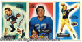 Miscellaneous, LARGE GROUP LOTS OF 1955 BOWMAN FOOTBALL CARDS. 94 cards out of...