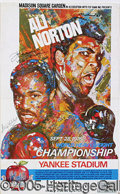 Miscellaneous, SUPER ALI - NORTON SITE POSTER AUTOGRAPHED BY BOTH. This poster...